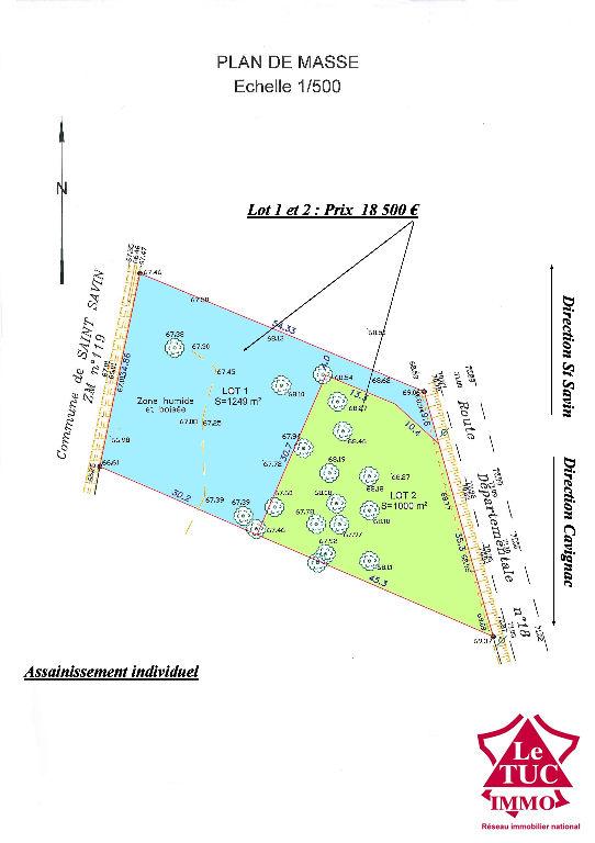 SAINT-SAVIN TERRAIN 2249 m²