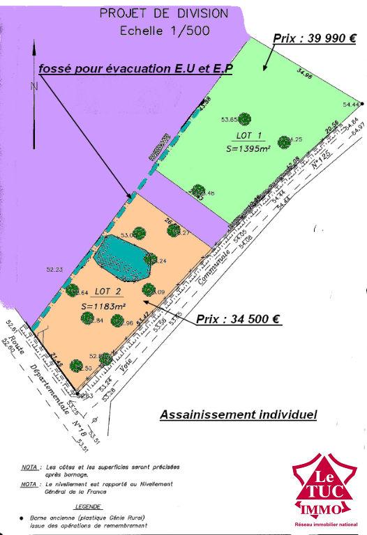 SAINT-SAVIN TERRAIN D'ENVIRON 1 395 M² à bâtir