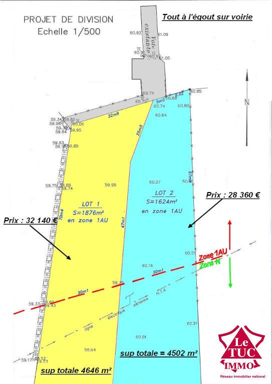 BUSSAC FORET TERRAIN  de 4500 m²
