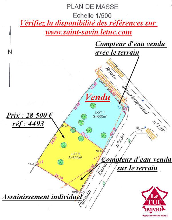 SAINT CHRISTOLY DE BLAYE proche commodités Terrain 600 m²