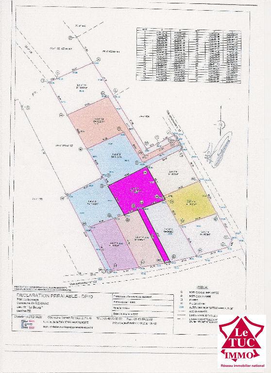REIGNAC Terrain à bâtir de 1 116 m²