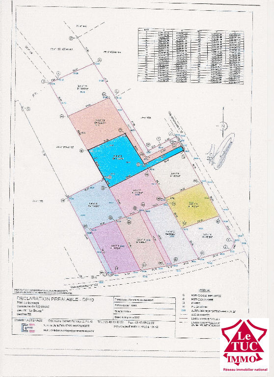 REIGNAC Terrain à bâtir de 1 078 m²