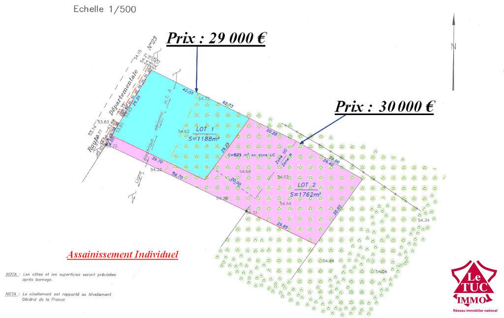 Terrain Saint-savin 1762 m2 avec des bois. Lot n° 2