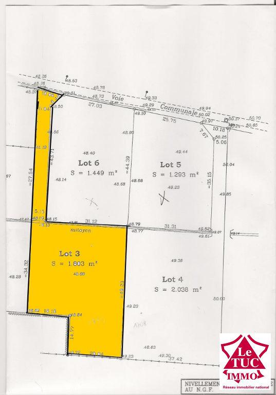 SAINT CAPRAIS DE BLAYE Terrain à bâtir de 1 803 m²