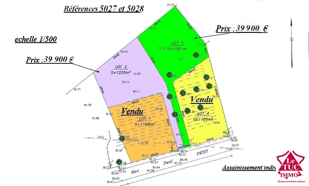 SAINT SAVIN ; Terrain d'environ 1 225 m²