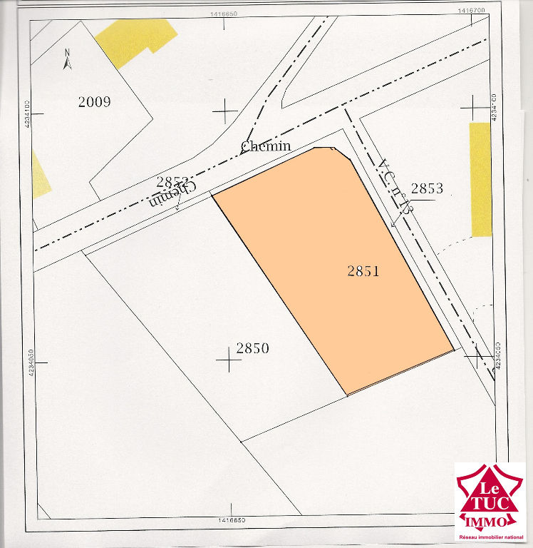 BRAUD ET SAINT LOUIS Terrain à bâtir de 1 239 m²