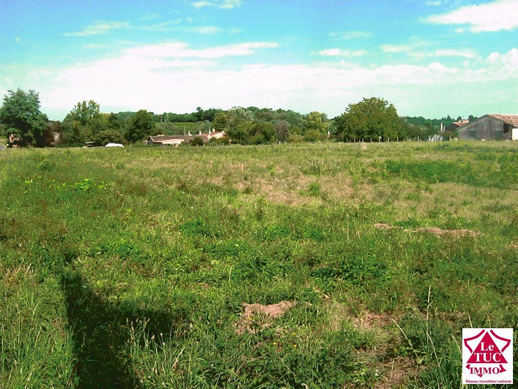 Terrain à batir viabilisé  1037 m² - Bourg sur gironde