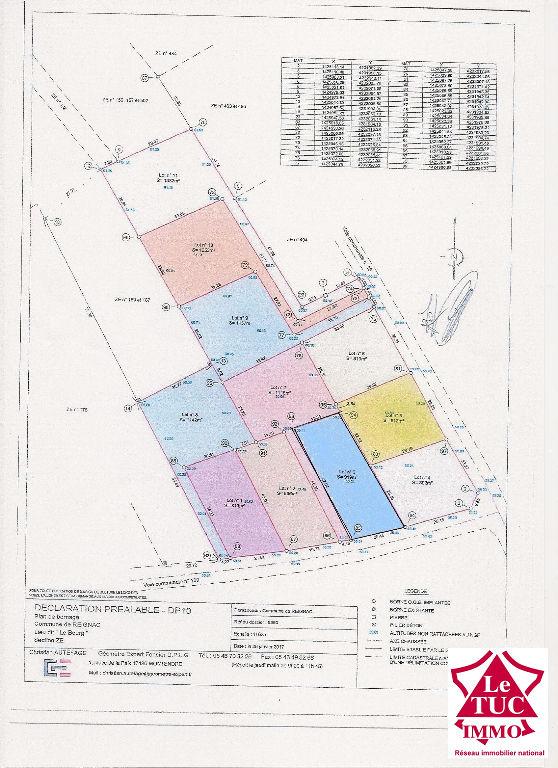 REIGNAC Terrain à bâtir de 919 m²
