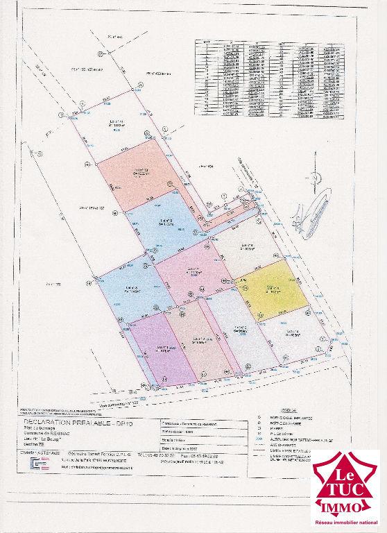 REIGNAC Terrain à bâtir de 812 m²
