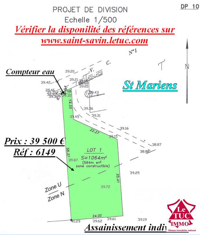ST MARIENS TERRAIN D'ENVIRON 1 064 M²
