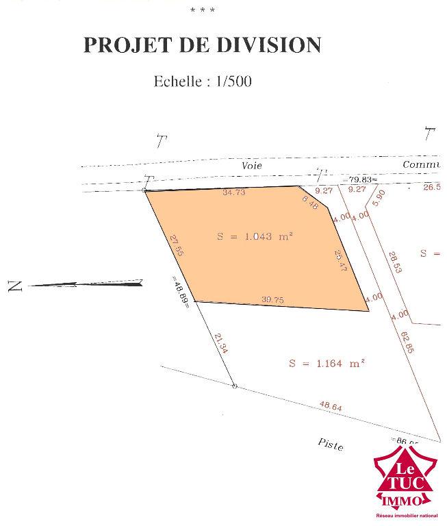 EYRANS Terrain à bâtir de 1 043 m²