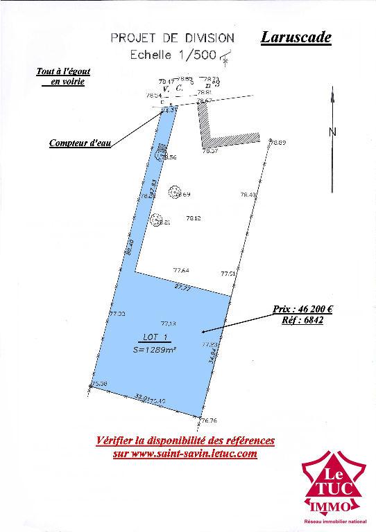 LARUSCADE TERRAIN 1 289 M²