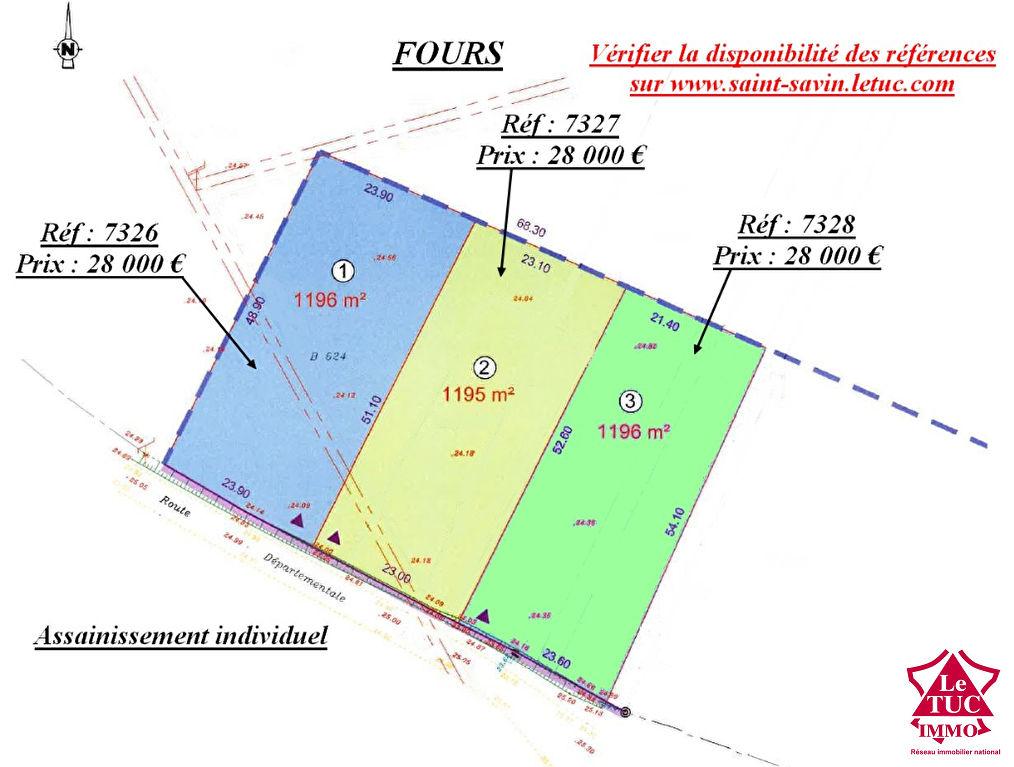Terrain à batir 1195 m² - Secteur FOURS