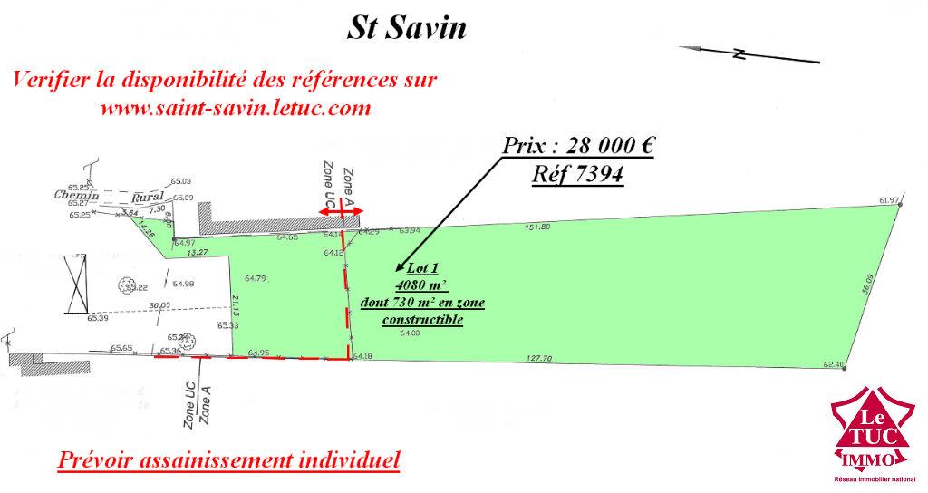 SAINT-SAVIN TERRAIN A BATIR DE 4 080 M²