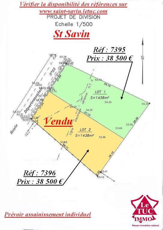 SAINT-SAVIN TERRAIN A BATIR 1 438 M²