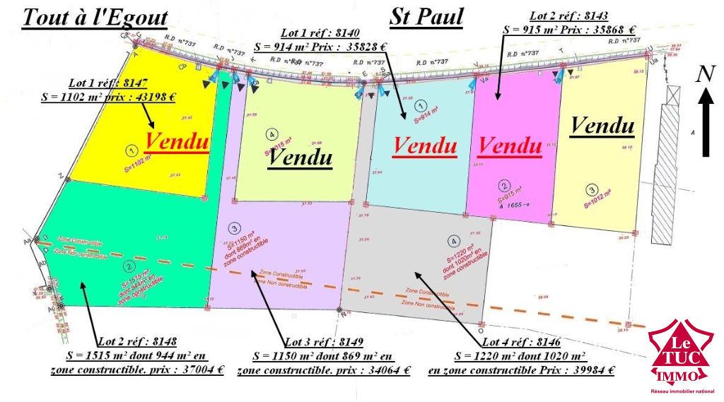 ST PAUL TERRAIN D'ENVIRON 1515 M²
